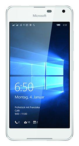 Microsoft Lumia 650 Dual-SIM Smartphone (5 Zoll (12,7 cm) Touch-Display, 16 GB Speicher, Windows 10) weiß