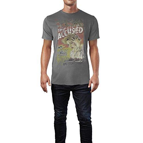 SINUS ART® The Accused Herren T-Shirts graues Cooles Fun Shirt mit tollen Aufdruck