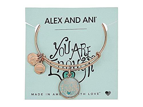 Alex and Ani Words are Powerful Bangle Bracelet, Shiny Rose