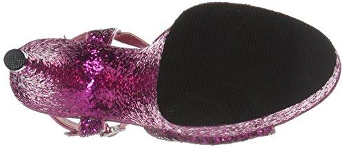 Pleaser Women's Flamingo-810lg Sandal, Aqua Gltr/Aqua Gltr H. Pink Gltr/H. Pink Gltr