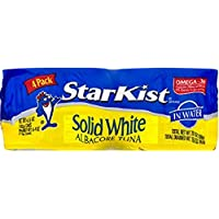 StarKist Solid White Albacore Tuna in Water - 5 oz Can (Pack of 4)