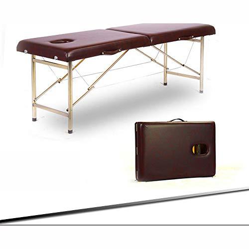 MASODHDFX Cama de Belleza Plegable 180 cm de Longitud 60 cm de Ancho Mesas de Masaje portátiles Profesionales para SPA Plegable con Bolsa Muebles de salón de Madera,B por MASODHDFX