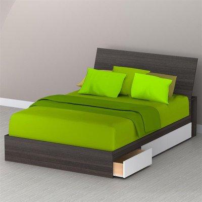Nexera Blvd 3-Drawer Reversible Storage Bed, Twin