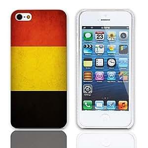 TY- Vintage La bandera de Bélgica Caso duro del diseño con el paquete de 3 protectores de pantalla para iPhone 5/5S