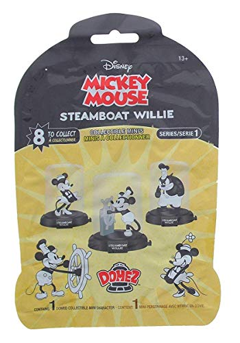 (Disney Mickey Mouse Steamboat Willie Domez Collectible Minis Series 1 With 8 To Collect)