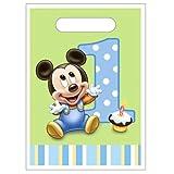 Mickey's 1st Birthday Treat Sacks 8ct [Toy] [Toy], Health Care Stuffs