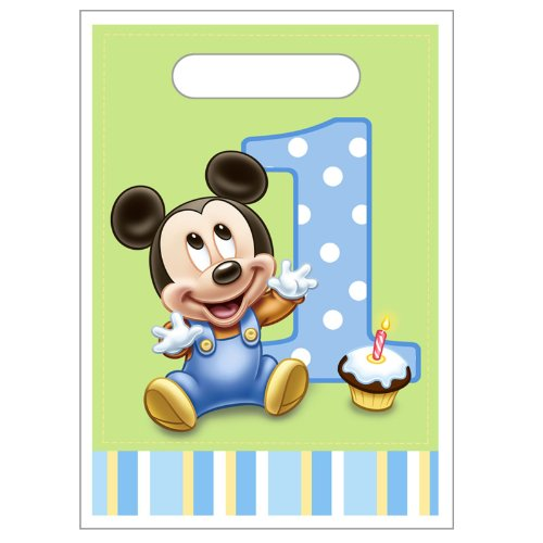 Hallmark Mickey's 1st Birthday Treat Bags (8) Party Supplies -