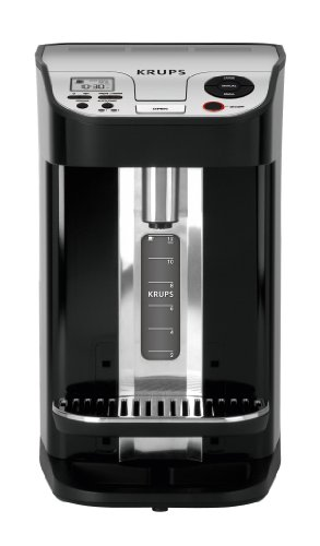 KRUPS KM9008 Cup on Request Programmable Coffee Maker with Precise Warming Technology, 12-Cup, Black (Krups Aroma Control)