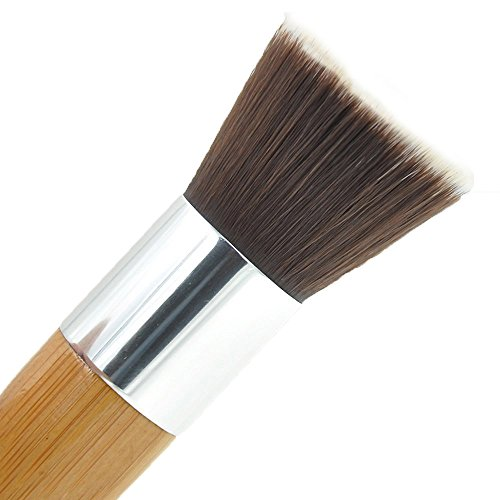 Tmalltide Perfect For Blending Liquid,Cream or Flawless Powder Cosmetics-Buffing,Stippling,Concealer-Premium Quality Synthetic Dense Bristles,Foundation Brush Flat Top Kabuki for Face (Professional Stippling Brush)