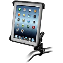 RAM Handlebar or Rail Mount with Tab-Tite(TM) Universal Clamping Cradle for the Apple iPad 4, iPad 3, iPad 2 & iPad 1 WITH OR WITHOUT LIGHT DUTY CASE