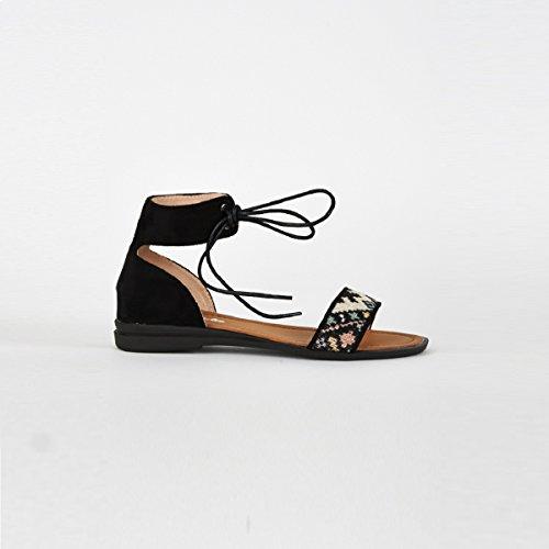 Stylish Fashion 910a-blk-004 - Sandalias de vestir para mujer