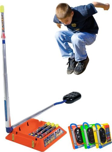 Blast Pad Missile Launcher uses kids own power to fly higher