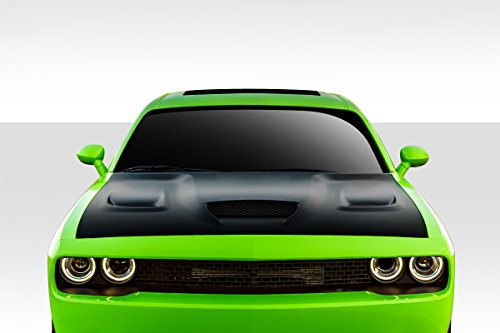 Duraflex ED-MAZ-580 Hellcat Look Hood - 1 Piece Body Kit - Compatible For Dodge Challenger 2008-2018