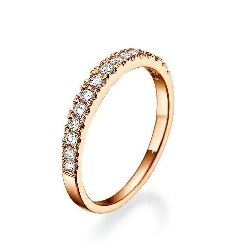 Amazon Com 0 17 Ct Half Eternity Diamond Wedding Band For Women14k