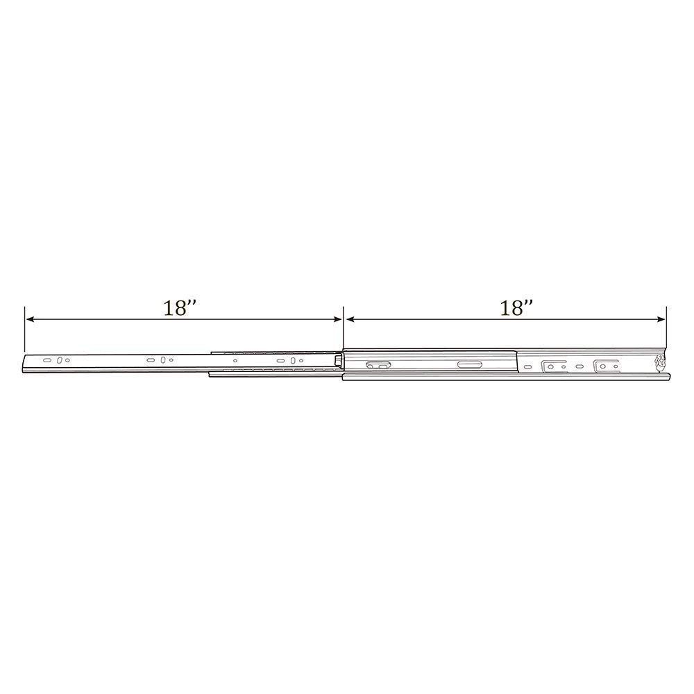 Bokaiya 5 Pair of 18 Inch Full Extension Side Mount Ball Bearing Sliding Drawer Slides, Available In 10'', 12'', 14'', 16'', 18'' and 20'' Lengths by Bokaiya (Image #2)