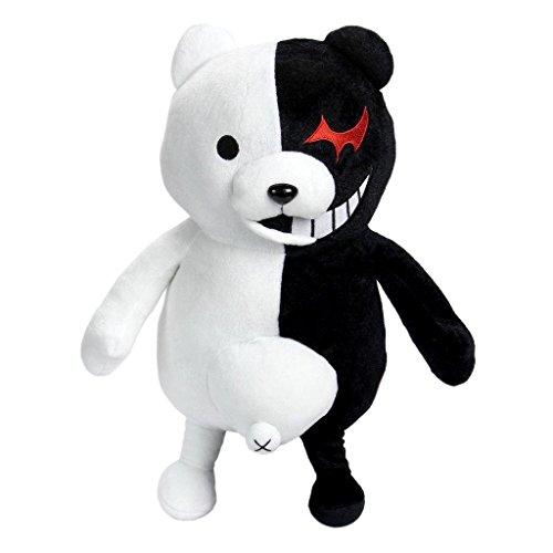35cm Dangan Ronpa Super Danganronpa 2 Mono Kuma Black&White Bear Plush Doll Toy by HiRudolph