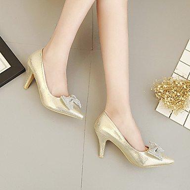 Women's cn35 uk3 5 2in 2 PU LvYuan Slingback eu36 us5 Slingback Silver Spring Heels 5 3 Casual Gold gold ggx 4in p5aRqwU