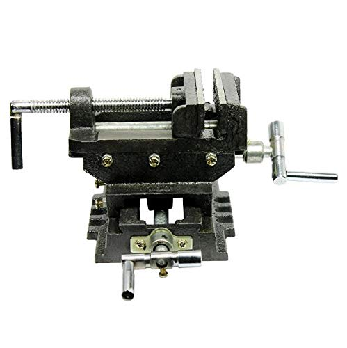Cypressshop Clamp Vises Cross Slide Vise 4'' inch Wide Drill Press X - Y Power Hand Tool Clamp Milling Heavy Duty 2 Way