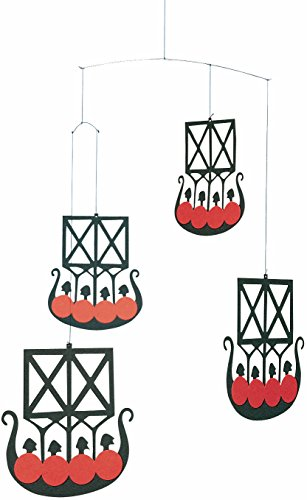 Flensted Mobiles The 4 Vikingships Hanging Mobile - 18 Inches Cardboard by Flensted Mobiles