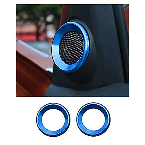 (JOIN-WIT for Honda Civic10th Gen A Pillar Speaker Trim Audio Decorative Ring Cover fit 2016 2017 2018 Civic(Blue))
