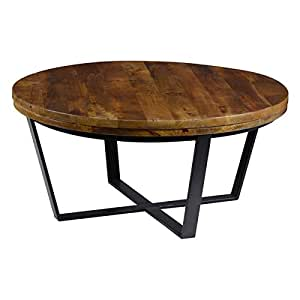 Kosas kinda reclaimed wood round coffee table for Coffee tables on amazon
