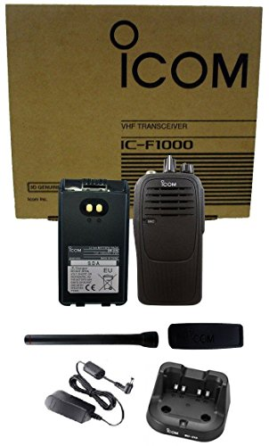 - Icom IC-F1000 01 5 watt 16 channel VHF 136-174mhz two way radio with Charger Complete Kit