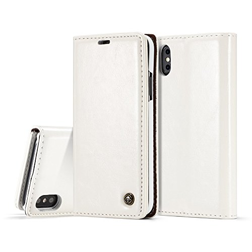 Torubia iPhone X iPhone Xs Wallet Case, Stylish Slim PU Leather Pouches Stand and Card Holders Wallet Phone Cover Replacement Protective Case for iPhone X iPhone Xs ()