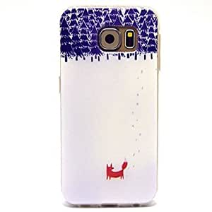 The Fox Pattern TPU Soft Cover for Samsung Galaxy S6