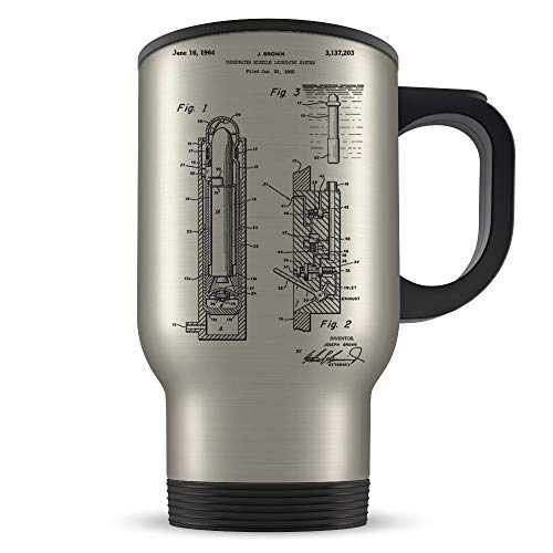 Fabri.YWL Navy Travel Mug for Men and Women - Navy Seals Coffee Cup for Student Graduation or Profession - Best Sailor Themed Gift Idea - Cool Torpedo Missile Invention Patent