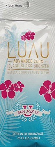 Lot Of 5 Luau 200X Black Bronzer Tanning Lotion Packets