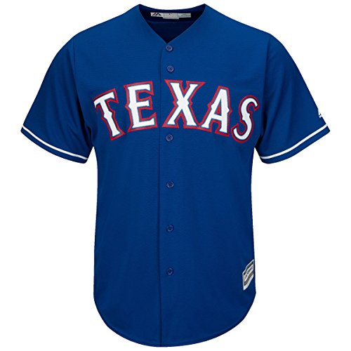 OuterStuff Texas Rangers Word Mark Blue Youth Cool Base Alternate Replica Jersey (Medium 10/12)