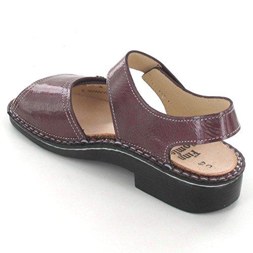 FINNCOMFORT Luxor 022346 - Sandalias de vestir para mujer burdeos