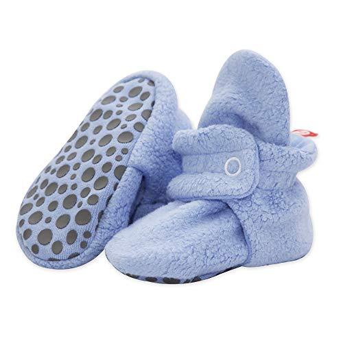 Zutano Cozie Fleece Baby Booties with Grippers 24M (18-24 Months), Light Blue from Zutano
