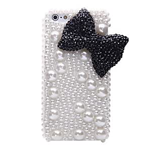 Pearl Bowknot Pattern Metal Jewelry Back Case for iPhone 5/5S