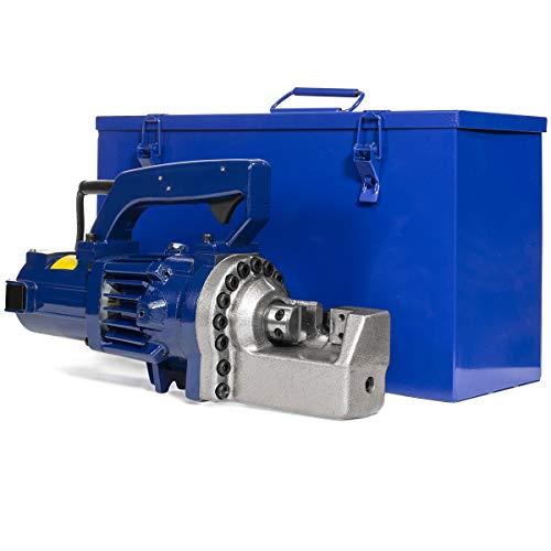 XtremepowerUS Premium 1350W Hydraulic Electric Rebar Cutter 3.5-4.5 sec Cutting Speed Rebar Steel Cut Workbench w/Carrying Case (110V)