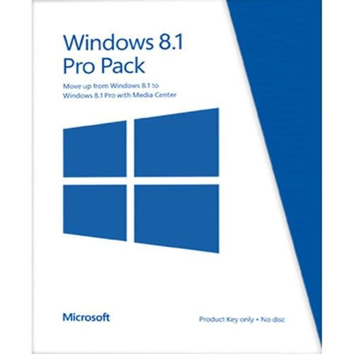 Microsoft Windows 8.1 Pro Pack (Win 8.1 to Win 8.1 Pro Upgrade) [Online Code]