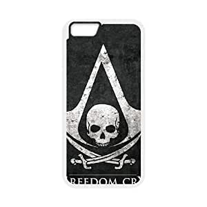 Assassins Creed Black Flag iPhone 6 Plus 5.5 Inch Cell Phone Case White TPU Phone Case SV_130820
