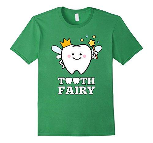 Cute Tooth Fairy Costume Ideas (Mens Tooth Fairy Magic Wand T-Shirt Fun Magical Dental Gift Large Grass)