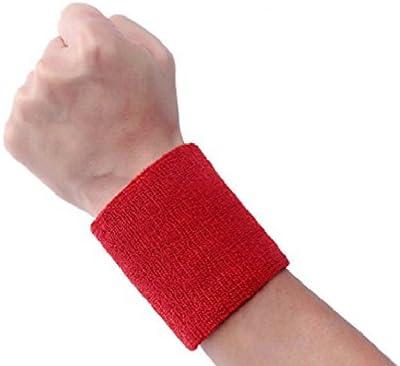 philna12 transpirable deportes algodón muñeca muñequeras mano Wrap muñequera – rojo: Amazon.es: Deportes y aire libre