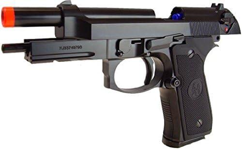 Gas 3300 0,20g BBs Schalldämpfer AB 18 Softair Metall M9 KJW Gas Blowback