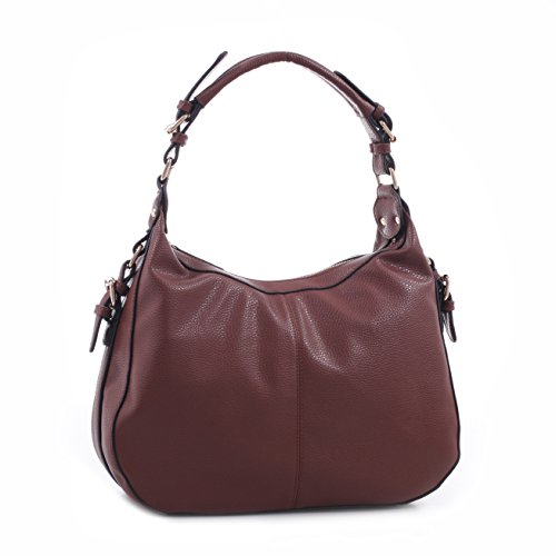 Concealed Carry Purse - Chloe Buckle Hobo by Emperia Outfitters (Brown) (Belted Hobo Handbag)