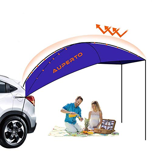 - AUPERTO Auto Canopy Camper Trailer Tent - 3-4 Person Sun Shelter Portable and Foldable Camping Tent, Waterproof, Anti-UV for Outdoor, Beach, SUV, MPV, Hatchback, Minivan, Sedan