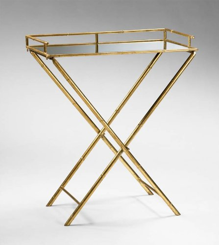 Cyan Design 04445 Bamboo Tray Table, Gold-Amber (Accessories Cyan Design)