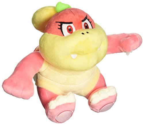 Little Buddy USA Super Mario All Star Collection Bun Bun/Pom Pom Stuffed Plush, Pink, 6.5