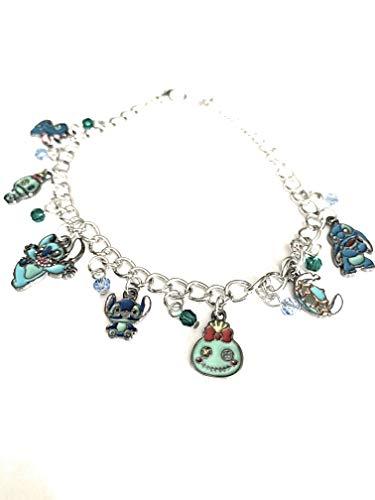 Ivy & Clover Lilo & Stitch Inspired Enamel Charm Bracelet Style ()