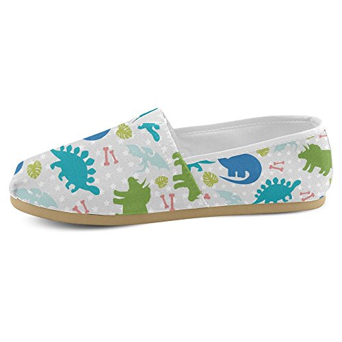 Mocassini Da Donna Di Interestprint Classico Su Tela Casual Slip On Fashion Shoes Sneakers Flat Multi 11
