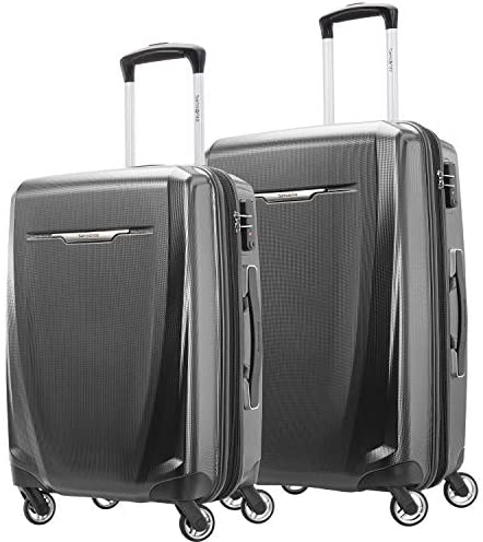 Samsonite Winfield 3 DLX Hardside Expandable Luggage with Spinners, Graphite Grey, 2-Piece Set (20/25)