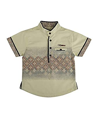 71b05577 Terry Fator Kids Shirt, Boys Casual Shirt, Boys Party Shirt Boy's Casual  Printed Cotton Short Sleeve Shirt - Yellow: Amazon.in: Clothing &  Accessories