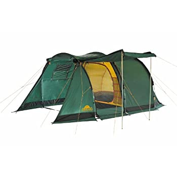Image of Alexika Apollo 4 9164.4401 Tent 250 x 480 x 178 cm Green Exterior Yellow Interior Tents