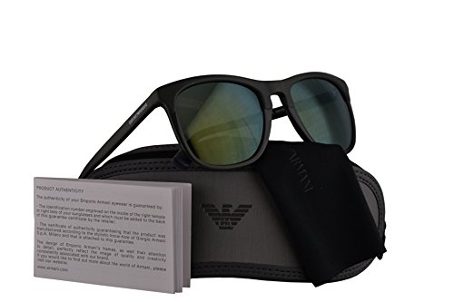 Emporio Armani EA4105 Sunglasses Matte Green w Light Green Mirror Lens  55976R EA 4105 fb23aa1828